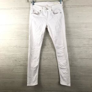 Rag & Bone The Dre White Denim Skinny Jeans